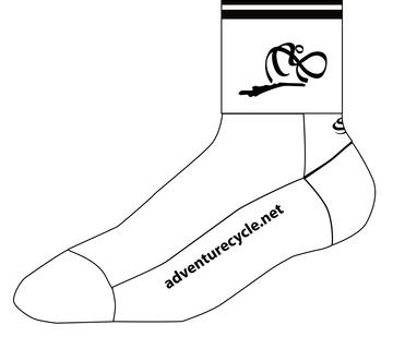 Adventure Cycle SOS Sock-white